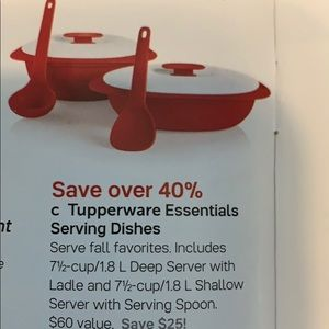 New! Tupperware essentials serving dishes